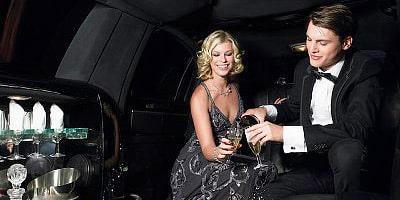 Serata romantica Roma limousine