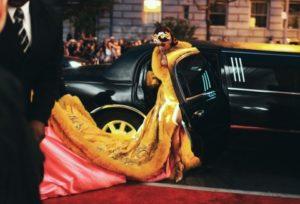 Celebrità in limousine