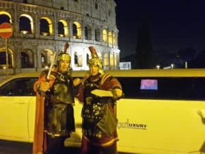 Limousine al Colosseo