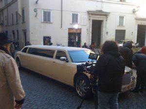 Sul set per il videoclip! con Chrysler Limousine