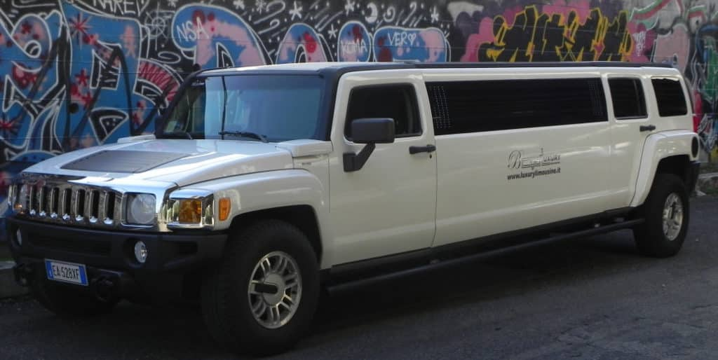 Noleggio Hummer limousine Roma bianco