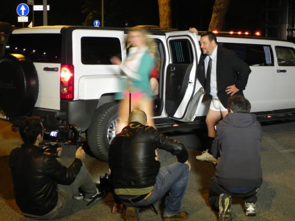 Limousine per servizi fotografici Film Videoclip